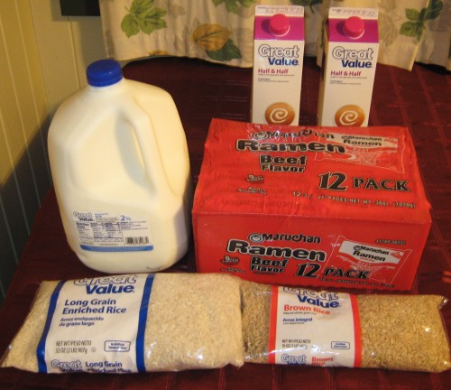 Groceries from Wal-Mart
