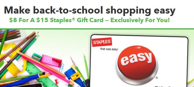 Staples Gift Card