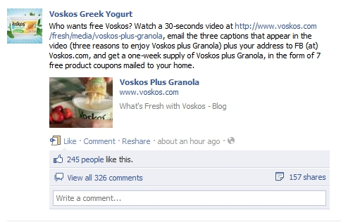 Voskos Plus Granola Free Coupon Offer