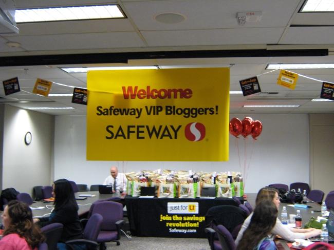 Safeway VIP Blogger Event