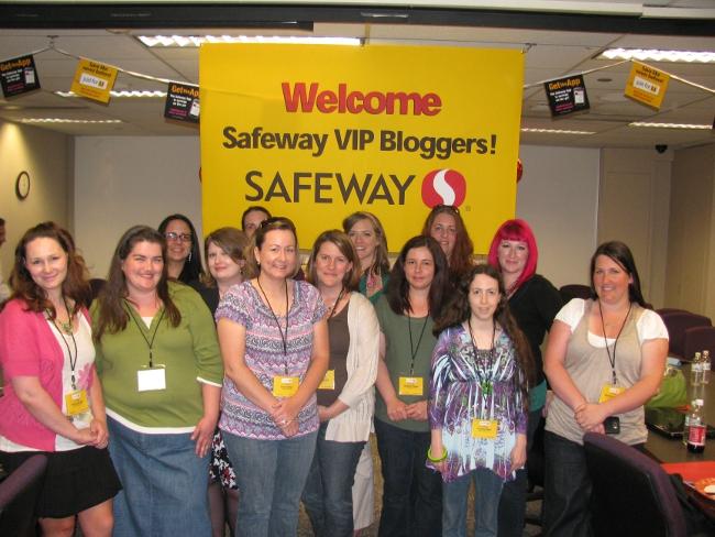 Safeway VIP Bloggers - Group Photo