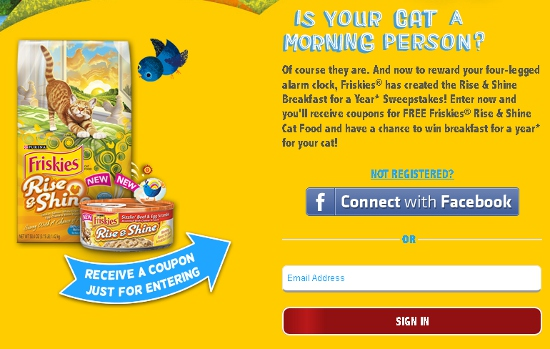 Free Friskies Cat Food