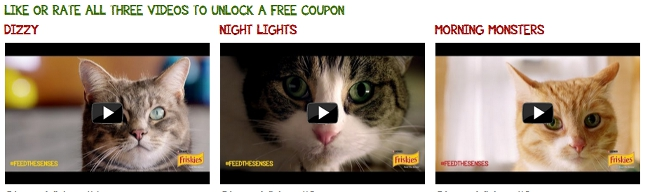 Free cat food from Friskies