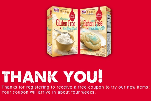 Betty Crocker Gluten Free Cookie Coupon